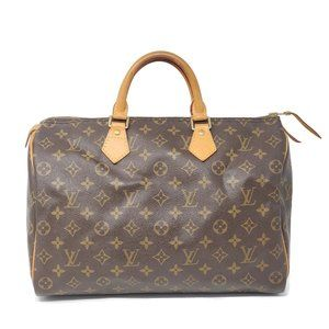 AUTH LOUIS VUITTON MONOGRAM SPEEDY 35 HAND BAG